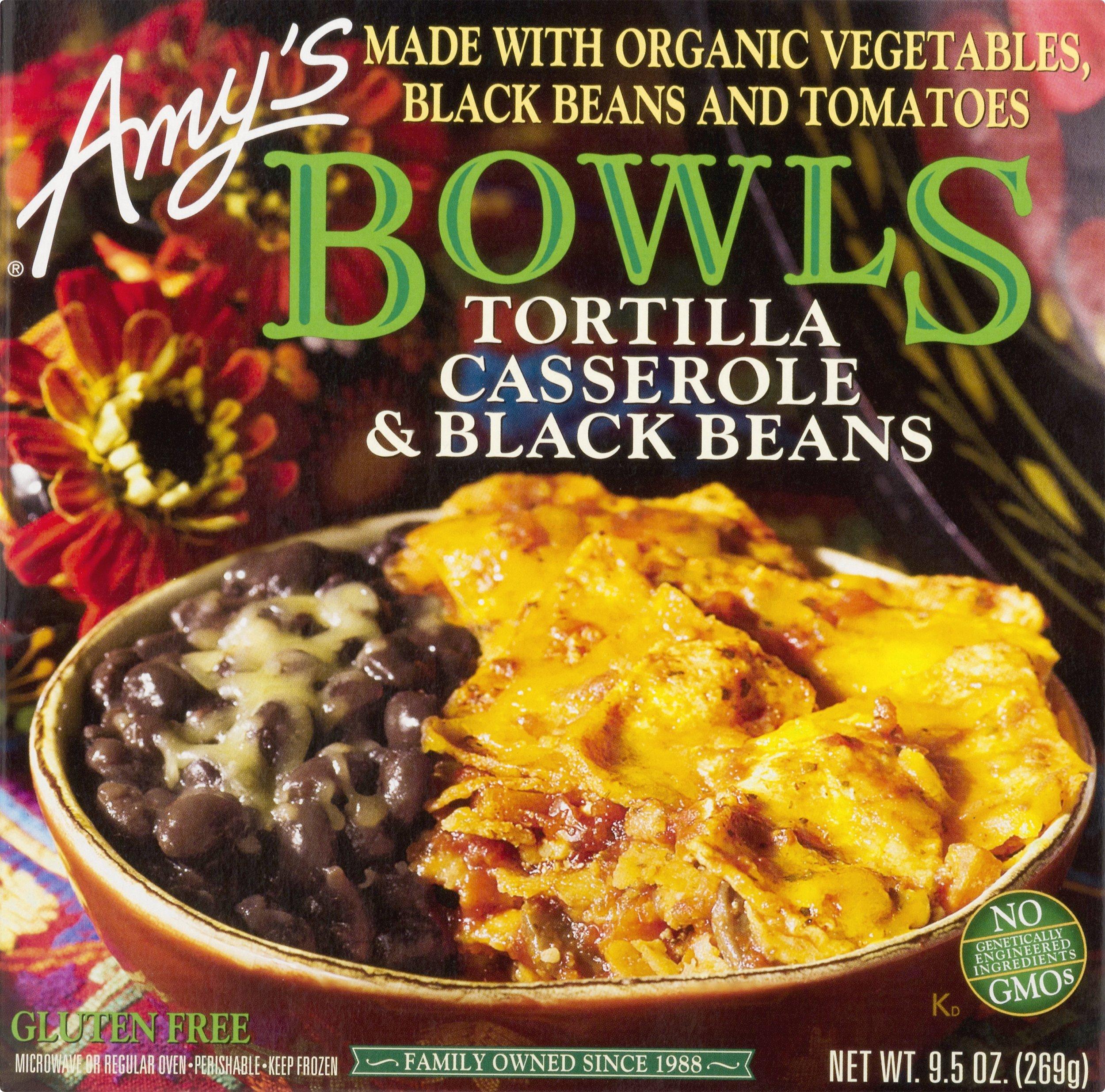 Amy's Bowls, Tortilla Casserole & Black Beans, 9.5 oz (Frozen) by Amy's