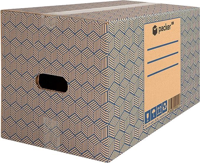 packer PRO Pack 20 Cajas Carton para Mudanzas y Almacenaje con Asas 430x300x250mm: Amazon.es: Oficina y papelería