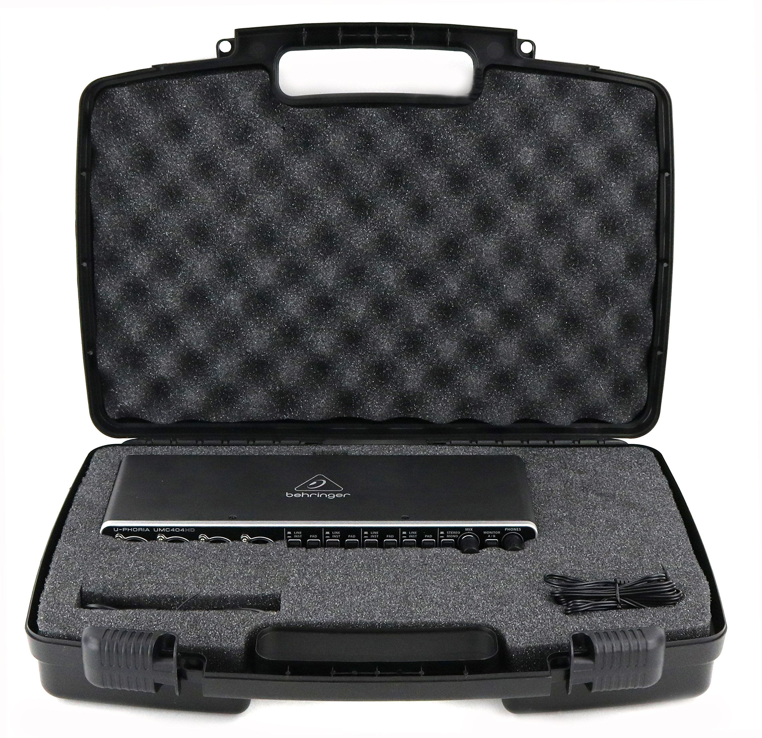 Life Made Better Storage Organizer - Compatible with BEHRINGER U-PHORIA UMC404HD And Accessories - Durable Carrying Case - Black