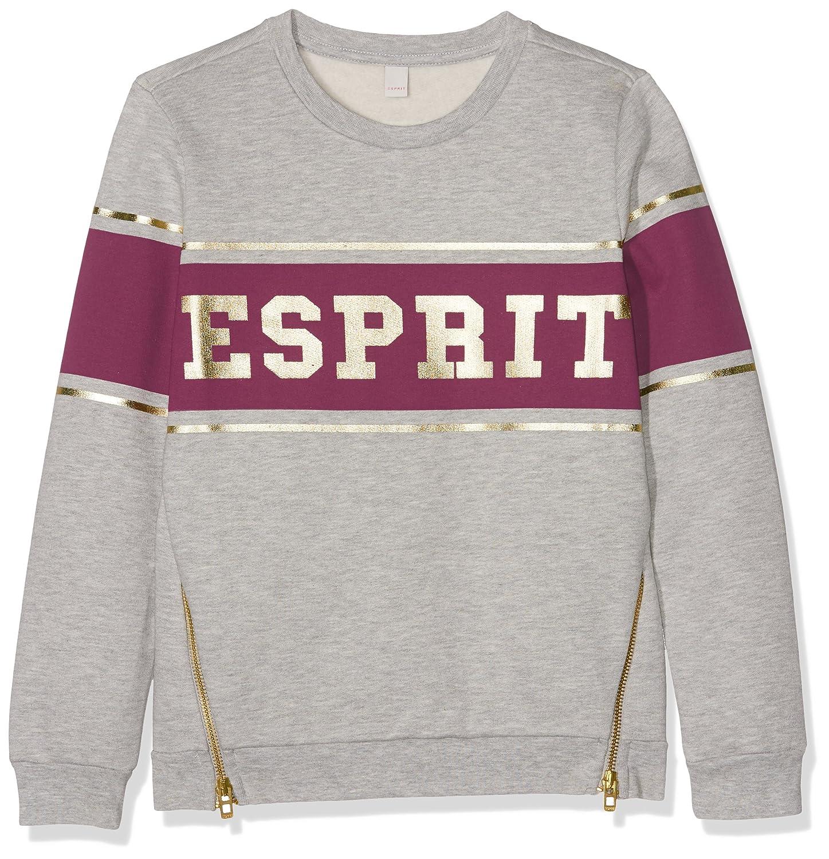 ESPRIT Girl's Sweatshirt (Light Heather Grey 221) (Size: 8 Years) ESPRIT KIDS RK15055