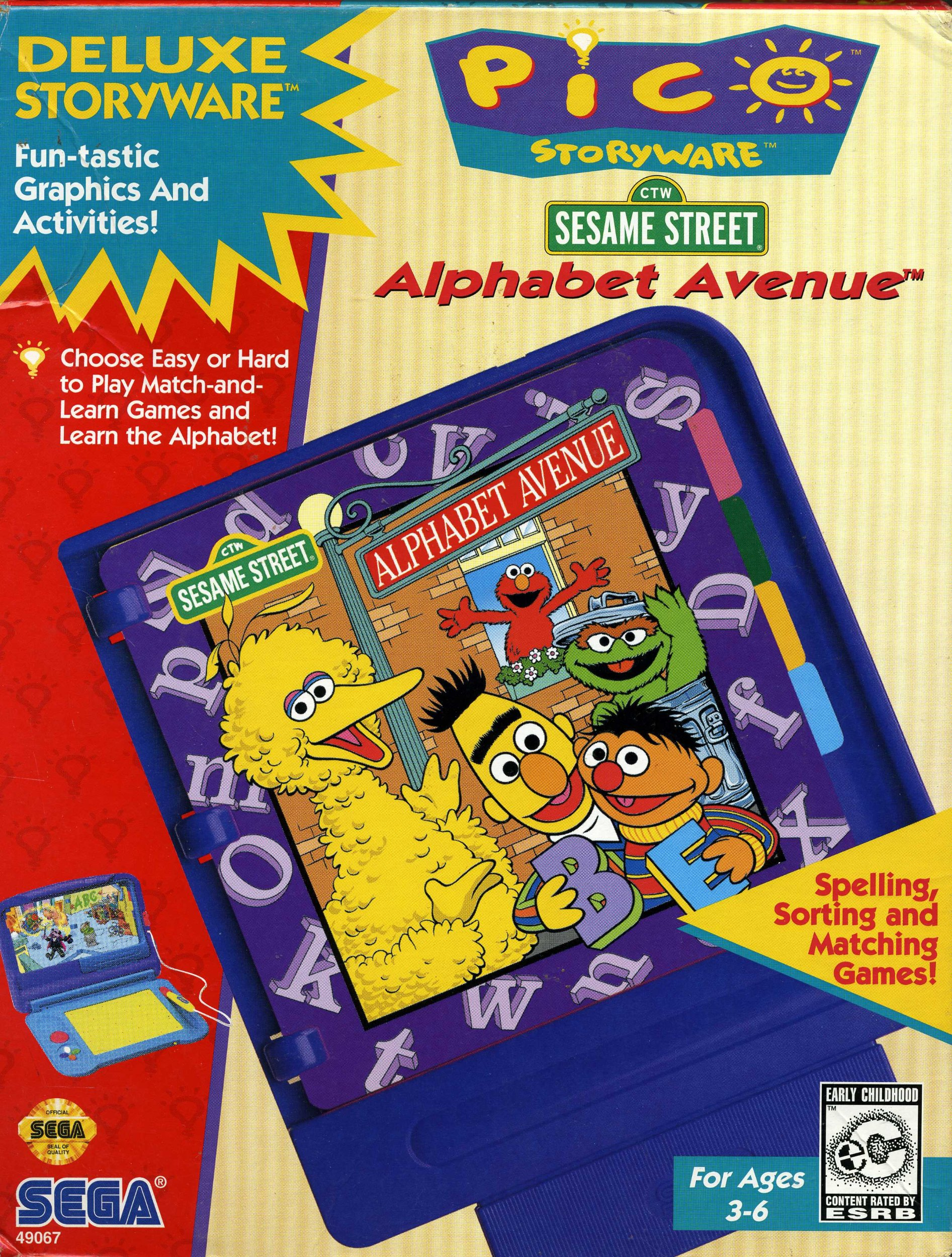 Amazon com: Sega Pico Storyware - Sesame Street - Alphabet