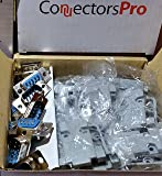 Pc Accessories - Connectors Pro 10 Sets Solder Type DB9 Male and Plastic Hoods, D-Sub Connector + Hoods, 20-Pack (10 DB9 Males + 10 Hoods)