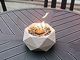 Terra Flame OD-TT-GEO-WHT-03 Table Top Fire