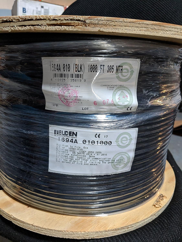 Belden 1694a Hd//sdi 18awg Rg6 Serial Digital Coaxial Cable Black 1000 ft