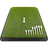 Champkey Premium Turf Golf Hitting Mat(9 Golf Tees & 1 Rubber Tee Included) - Heavy Duty Rubber Base with 16mm Turf Practice