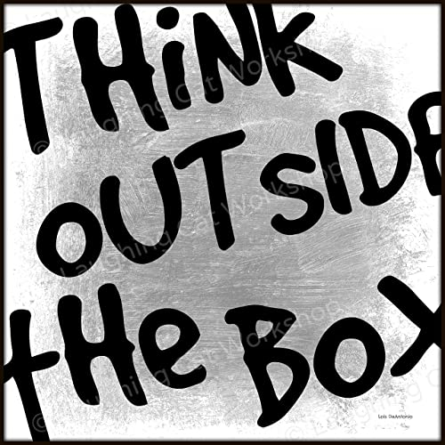 Amazoncom Work Office Decor Think Outside The Box Quote Print Work