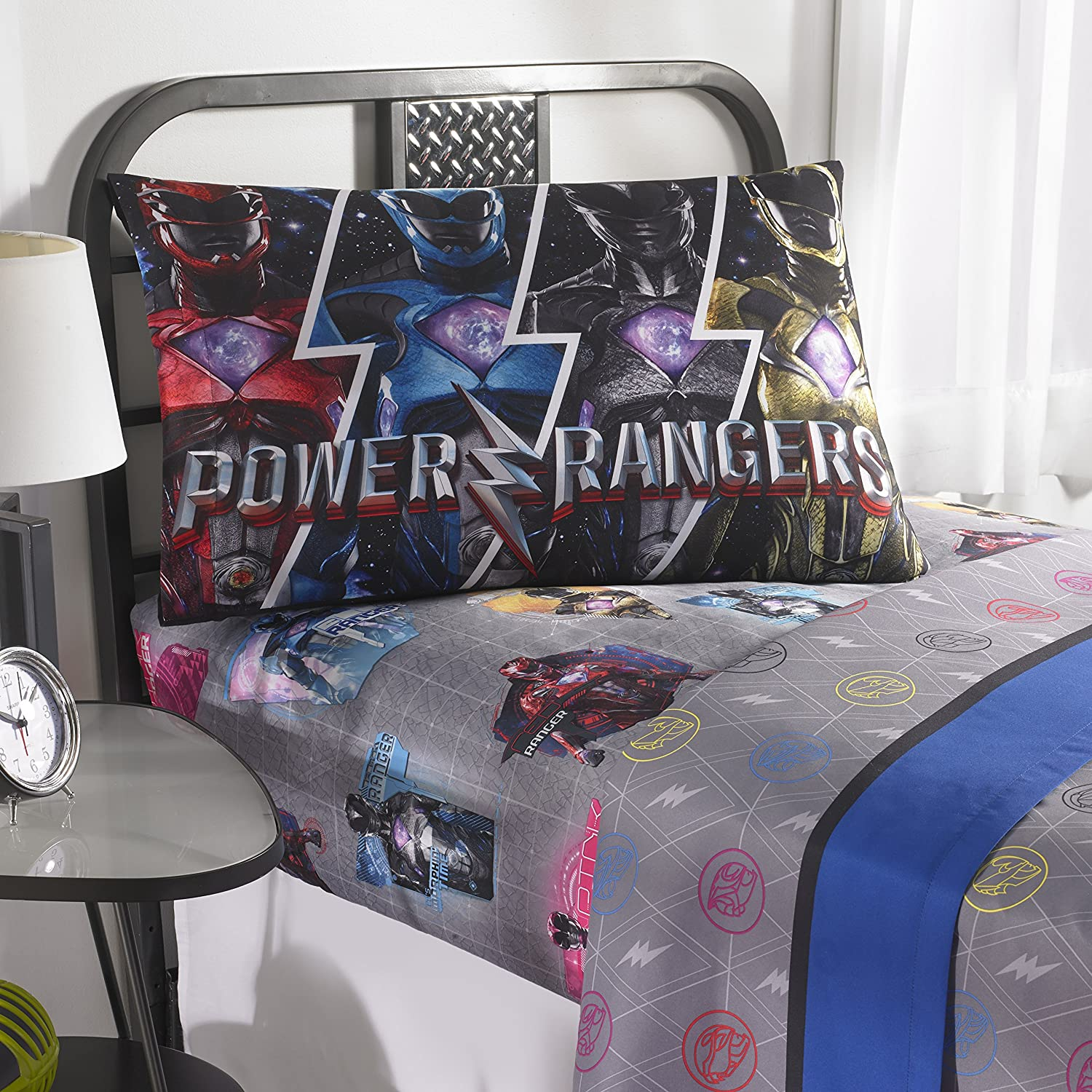 Power Rangers Black Ranger Decorative Throw Pillow Bed Couch