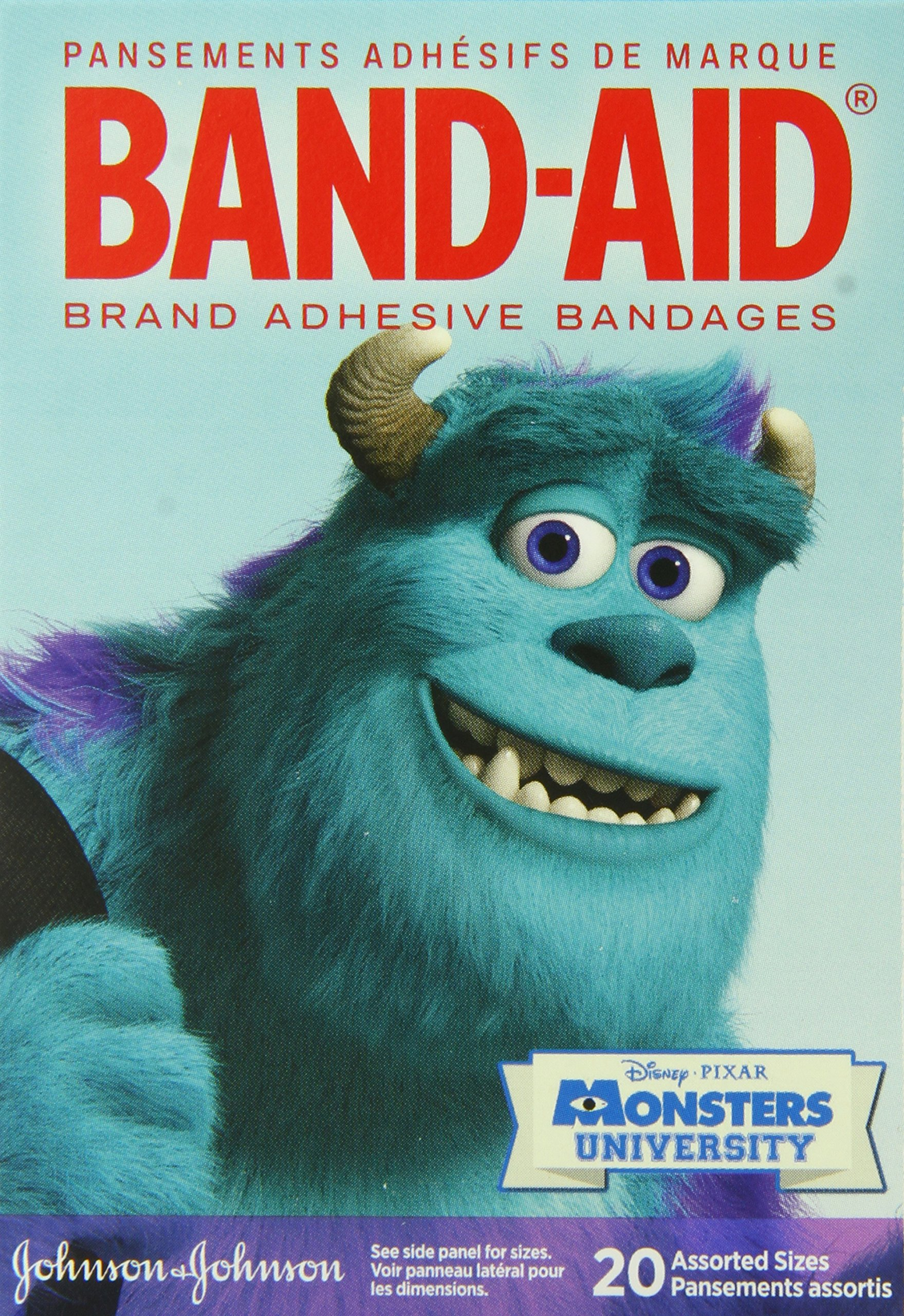 Band-Aid Adhesive Assorted Bandages, Disney-Pixar Monsters University, 20 Count (Pack of 6)