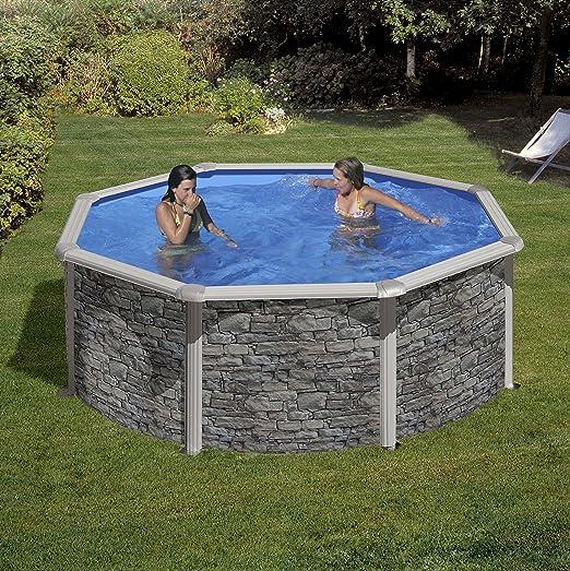 Pool Set cerdena by Gre piedra redonda 350 cm: Amazon.es: Jardín