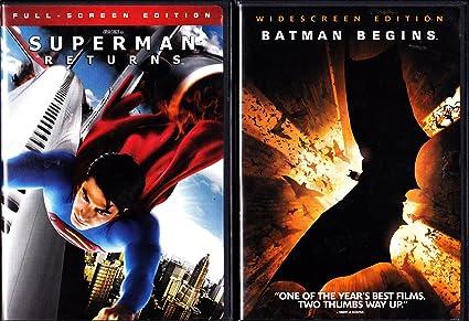 Superman Returns Batman Begins Superhero 2 Pack
