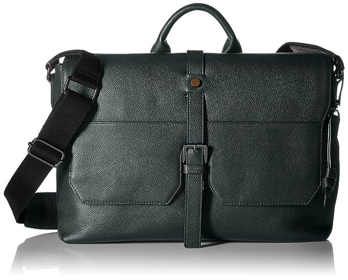 670857e964 Ted Baker Mens Cheeta Leather Satchel Bag Briefcase - Green -   Amazon.co.uk  Clothing
