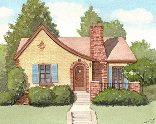 Custom Home or Chuch Watercolor