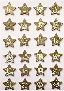 Adventskalenderzahlen Holz Rayher 46284000 Holz-Klammern Zahlen 1-24 Adventskalender Buttons mit Haus Btl 24 St/ück Zahlen f/ür Adventskalender Weihnachten 3 x 3,5 cm