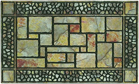 Mohawk Home Doorscapes Manor Patio Stones All Weather Outdoor Doormat,  18x30 Inch