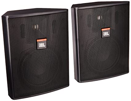 JBL Professional Control 25 Compact Indoor Outdoor Background Foreground  Loudspeaker, Black (Control 25)