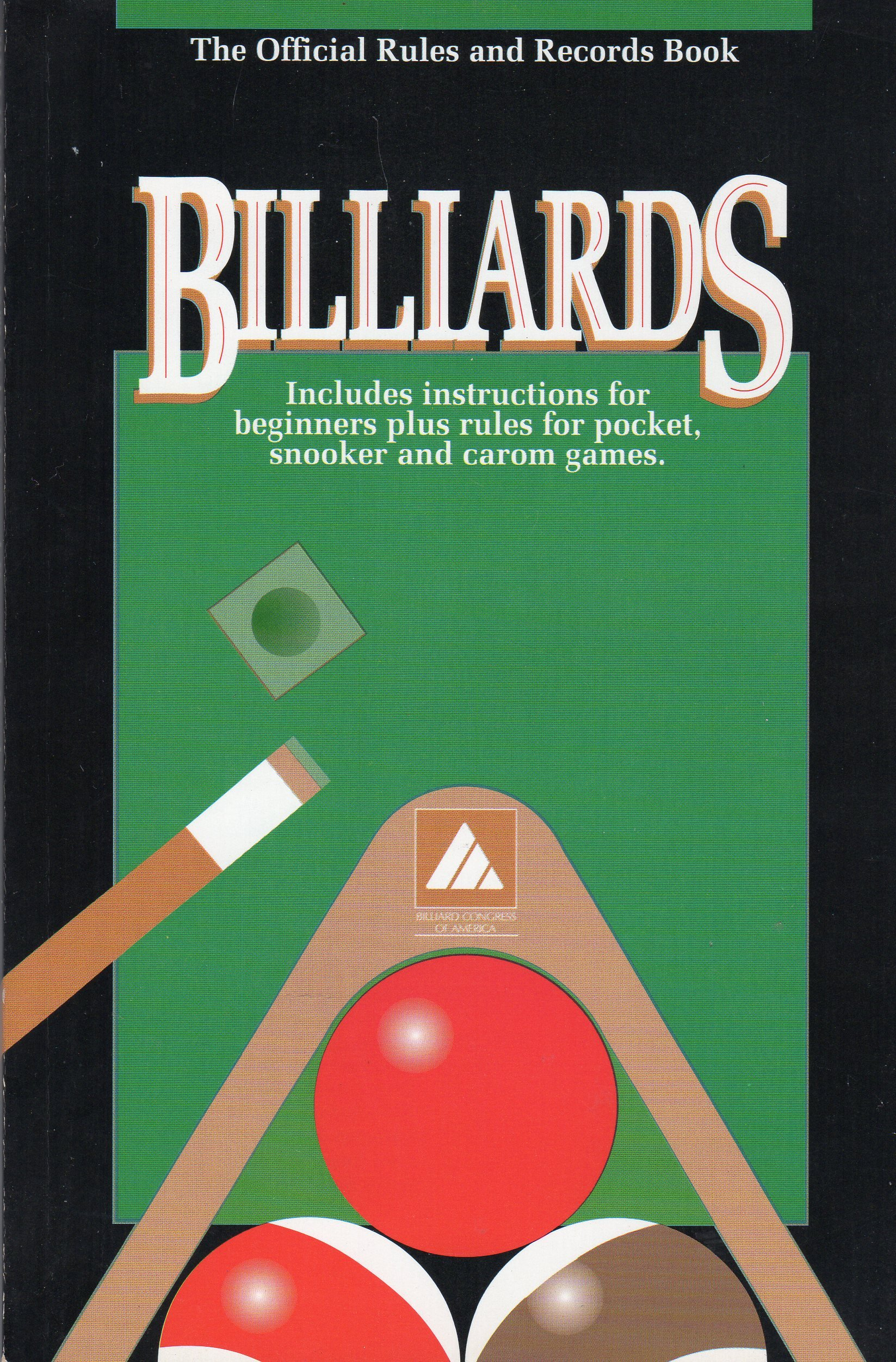 Billairds the Official Rules and Records Book 1993, Rules, BCA
