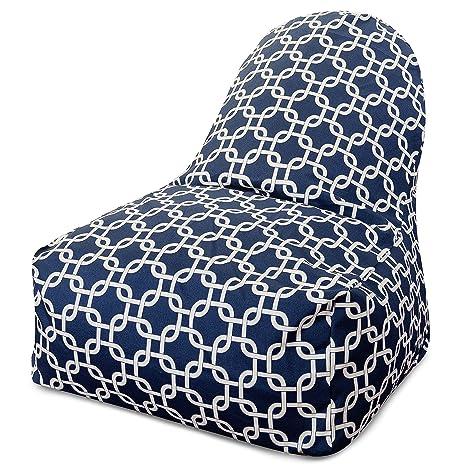 Astounding Amazon Com Majestic Home Goods Kick It Chair Links Navy Frankydiablos Diy Chair Ideas Frankydiabloscom
