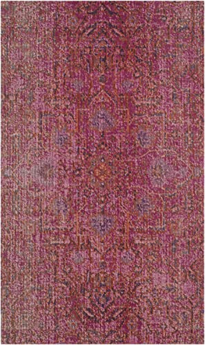 Safavieh Artisan Collection ATN339S Vintage Bohemian Fuchsia Distressed Area Rug 9 x 12