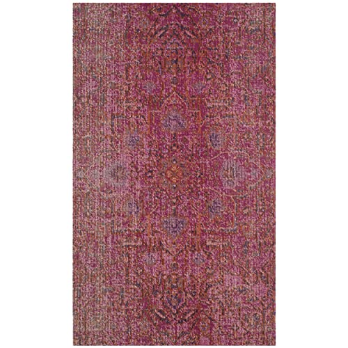 Safavieh Artisan Collection ATN339S Vintage Bohemian Fuchsia Distressed Area Rug 4 x 6