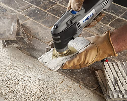 Sanding tile with a Dremel MM40-05 Oscillating Tool