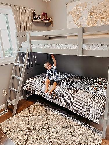Thomasville Kids Lenox Solid Hardwood Twin Bunk Bed Pebble Gray