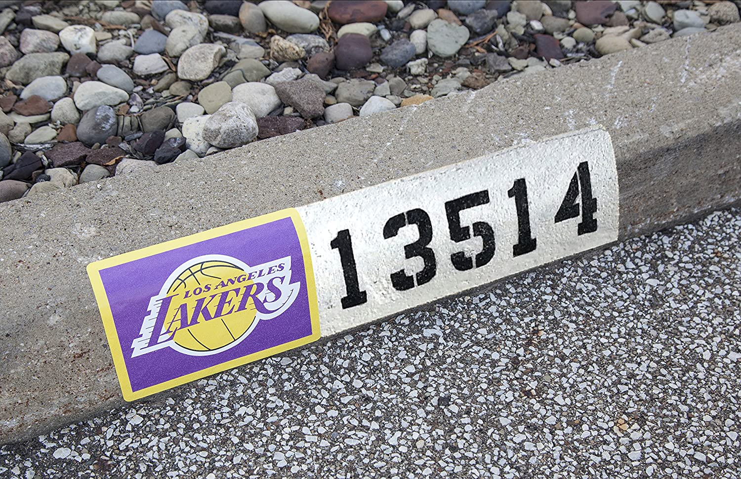 NBA Los Angeles Lakers Address Logo Decal Applied Icon