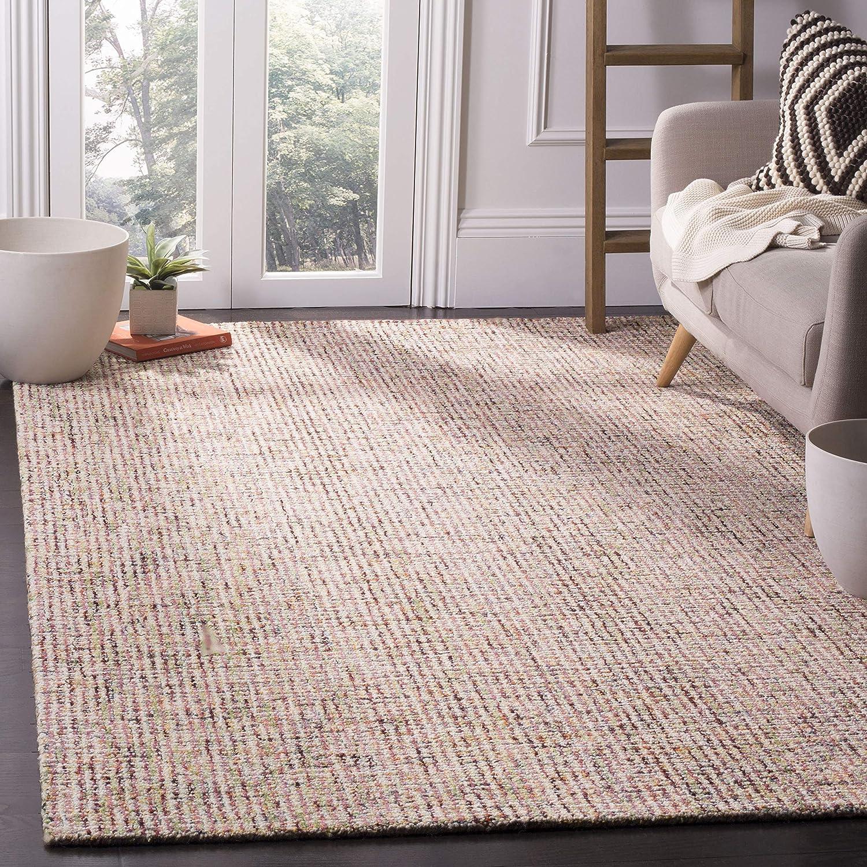 Amazon Com Safavieh Abstract Collection Abt468a Handmade Premium Wool Area Rug 6 X 9 Beige Rust Furniture Decor