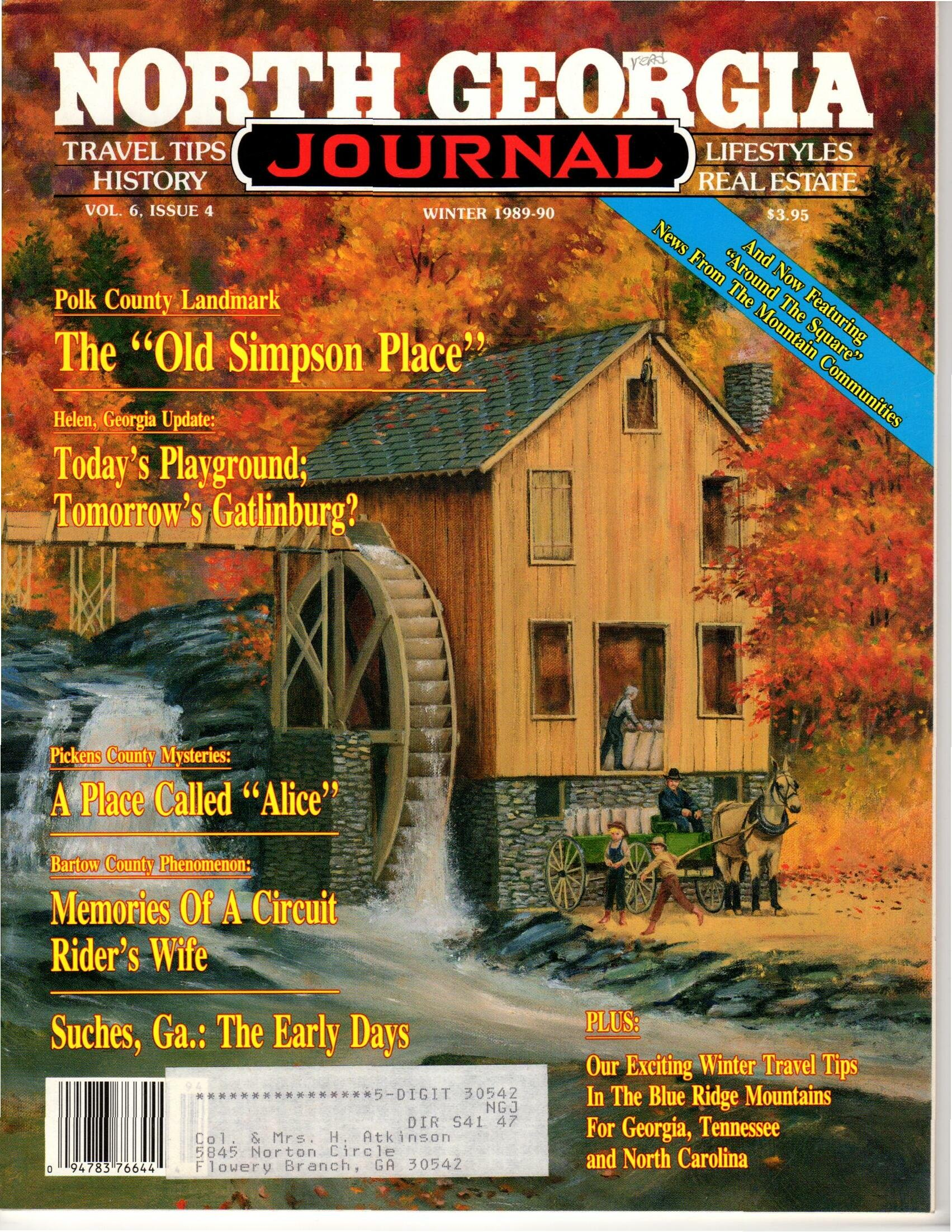North Georgia Journal, Vol  6, No  4 - Winter 1989 - 1990
