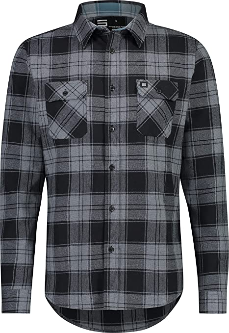 86c0ec6c45b Amazon.com  Jolt Gear Flannel Shirt for Men - Dry Fit Long Sleeve Button  Down - Moisture Wicking and Stretch Fabric Plaid Shirts  Sports   Outdoors