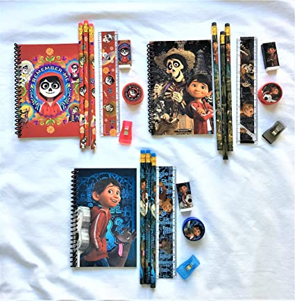 1c97deabc907f Amazon.com  Disney COCO Stationery set - Total of 3 sets - PIXAR ...