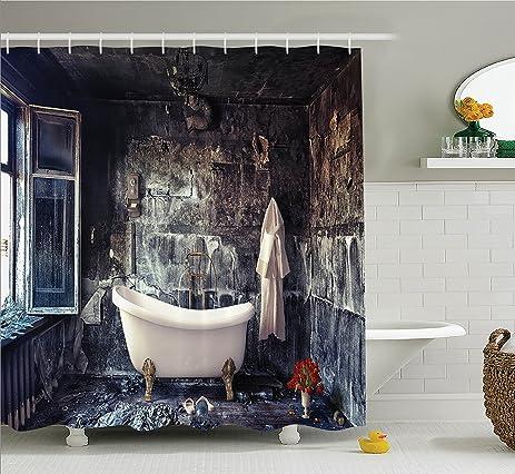 Amazon Antique Decor By Ambesonne Bathtub In Old Room Bathroom