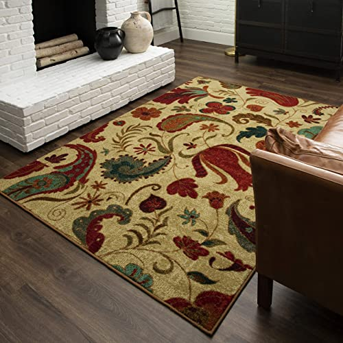 Mohawk Home Tropical Acres Paisley Floral Area Rug