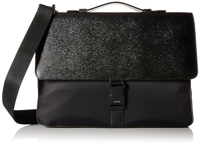 23570a25ea Calvin Klein Men's Nylon Saffiano Attache