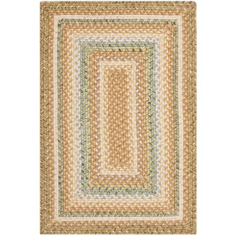 Safavieh Braided Collection BRD314A Hand Woven Tan And Multi Area Rug (2u0027 X  3