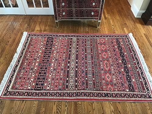 Turkish Kilim Design Indoor Outdoor Area Rugs for Kitchen Bedroom Living Room Rug Actual 5.2 x7.8 5 x8 , Sumak1