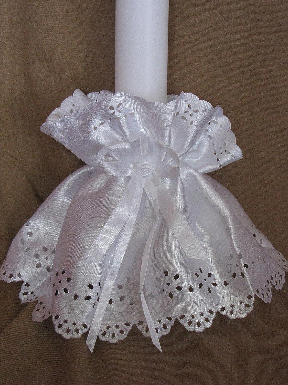 ♥♥ Kerzenröckchen ♥♥ Kerzenrock für Taufkerzen / Kommunionkerzen ; 3-5 cm ; S 9 Silkes-Kerzenladen