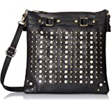 MG Collection Rhinestone Studded Convertible Shoulder Bag