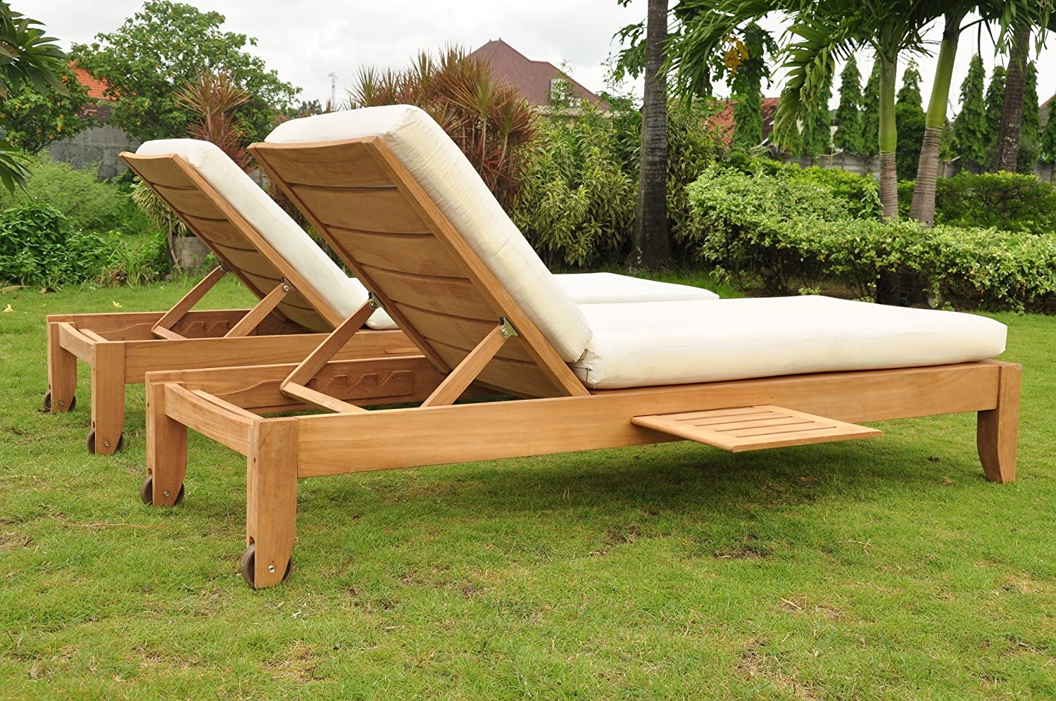 Outdoor Sunbrella Fabric Custom Made Cushions for Atnas Chaise Lounger - Cushions Only #WFCHATCS