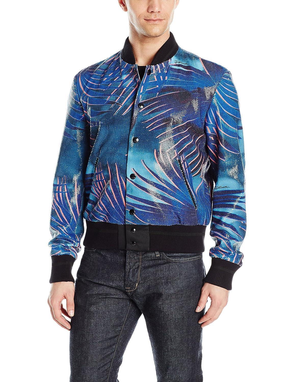 bc83c6908 Just Cavalli Men's Sequined Palm Bomber Jacket at Amazon Men's ...