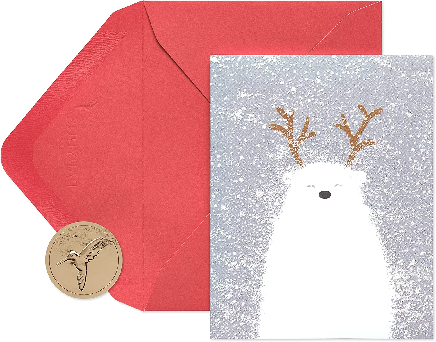 Papyrus Christmas Cards Boxed, Holiday Polar Bear (20-Count)
