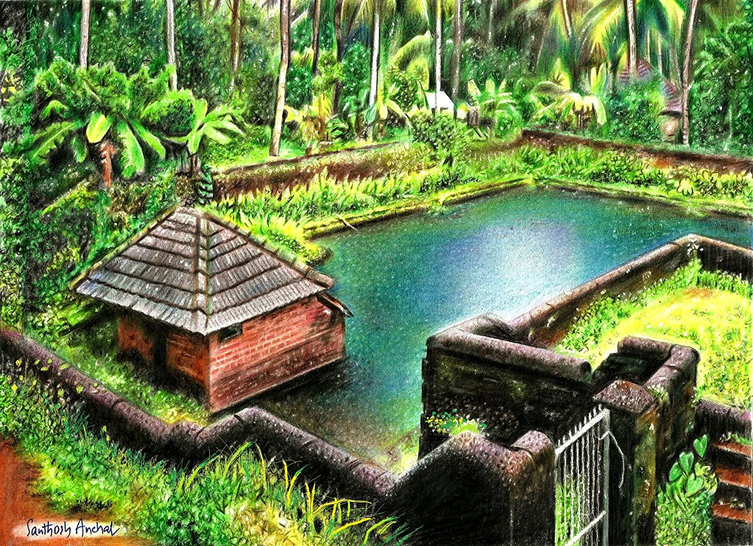 tallenge natural beauty of kerala premium quality canvas art