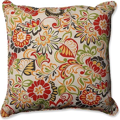 Pillow Perfect Outdoor/Indoor Zoe Citrus Floor Pillow