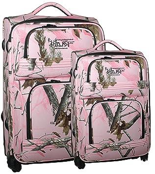 Amazon.com : ForEverlast Real Tree Luggage, Pink Camouflage ...