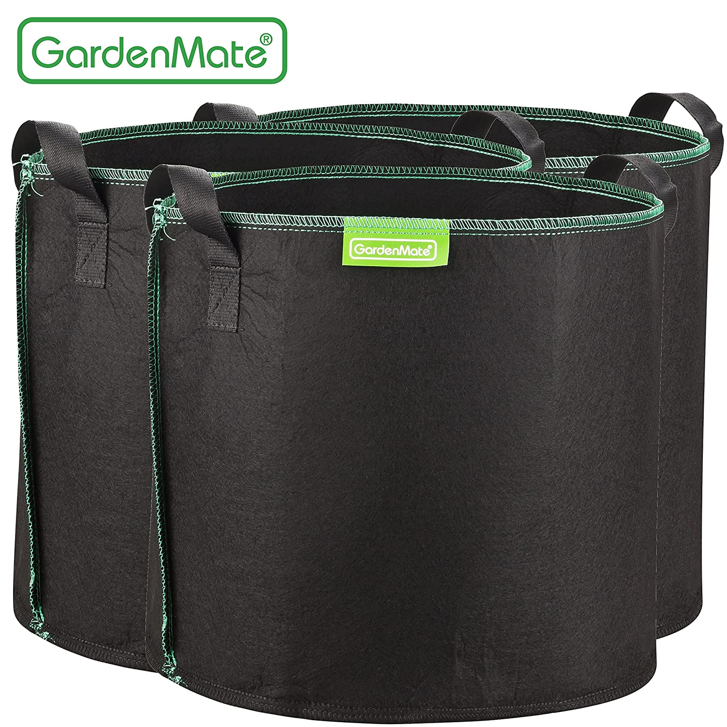 GardenMate 3-Pack 8 Gallons Planting Grow Bags Made Of Growth Friendly Felt