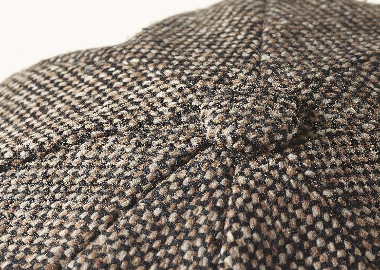 Peaky Blinders Newsboy Style Flat Cap Tweed Wool Fabric Variations