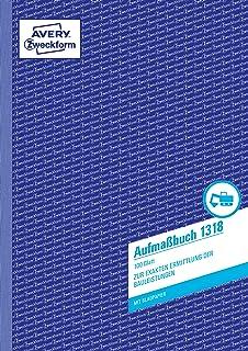 """50 Blatt Blaupapier sigel Formularbuch /""""Aufmaßbuch/"""" A4"""