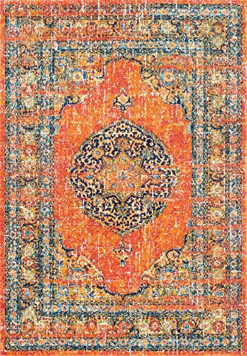 nuLOOM Olivia Persian Vintage Area Rug, 8 x 10 , Orange