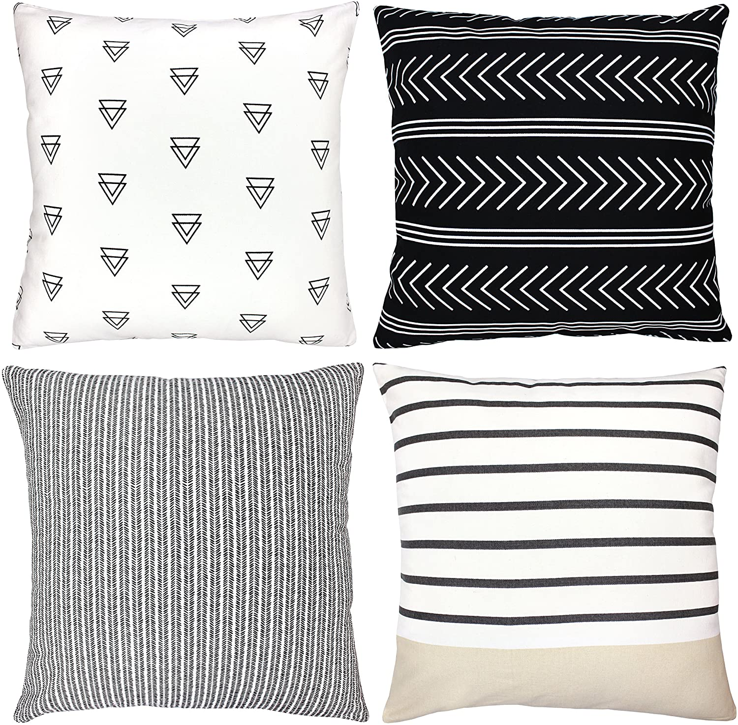 Woven Nook Decorative Throw Pillow Covers Atlas Style 18 X 18 Inches Set Of 4 Home Kitchen