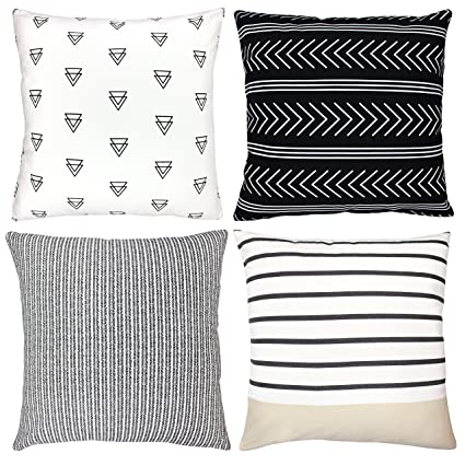 Merveilleux Decorative Throw Pillow Covers For Couch, Sofa, Or Bed Set Of 4 18 X
