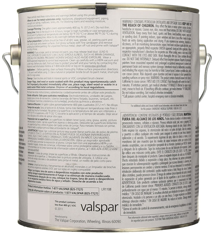 Amazon.com: Valspar 21852G White Metal Primer Enamel   1 Gallon: Automotive